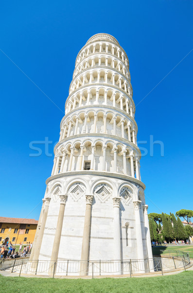 известный башни Италия здании город пейзаж Сток-фото © HERRAEZ