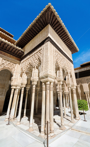 Detail of the famous Alhambra palace, Granada, Andalusia, Spain. Stock photo © HERRAEZ