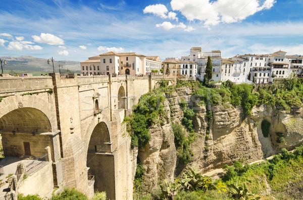 Ponte canyon malaga Spagna cielo città Foto d'archivio © HERRAEZ