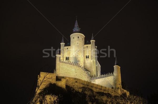 城 1泊 古代 ロイヤル 宮殿 スペイン ストックフォト © HERRAEZ