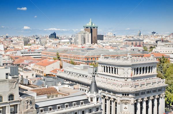 Madryt Cityscape sceniczny widoku Hiszpania budynku Zdjęcia stock © HERRAEZ