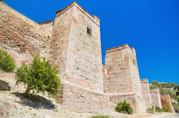 Exterior view of Alcazaba walls. Ancient fortress in Malaga, Andalusia, Spain. Stock photo © HERRAEZ
