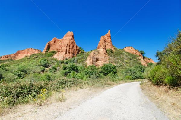 Las Medulas, ancient roman mines in Leon, Spain. Stock photo © HERRAEZ