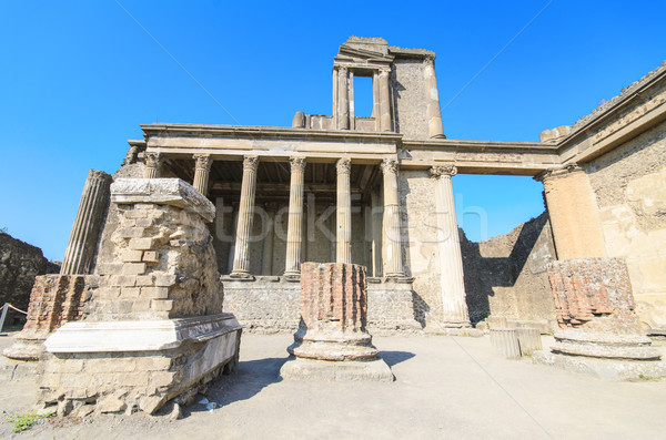 Ancient ruins of Pompeii, Italy Stock photo © HERRAEZ