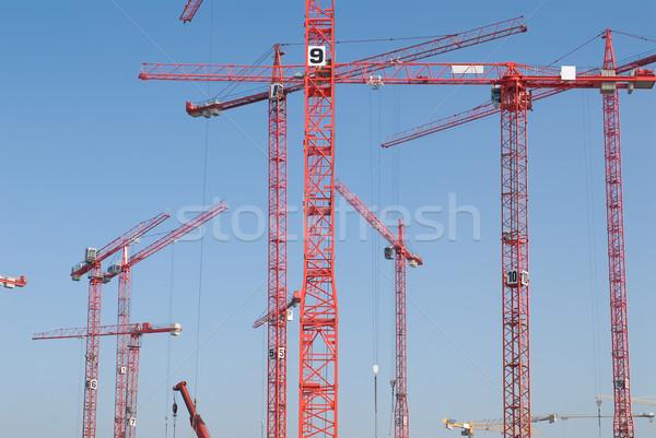 Budowa numer czerwony budowy budynku Zdjęcia stock © HerrBullermann