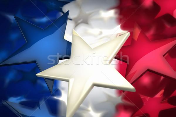 Francia csillagok renderelt kép zászló épít fehér Stock fotó © HerrBullermann
