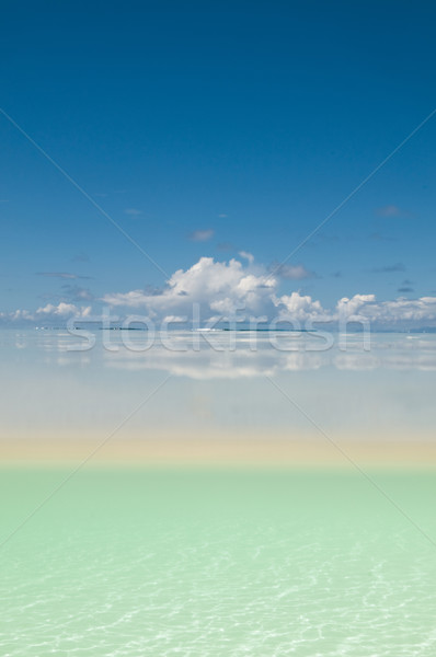 Wit zand oppervlak water afbeelding hemel zand Stockfoto © HerrBullermann