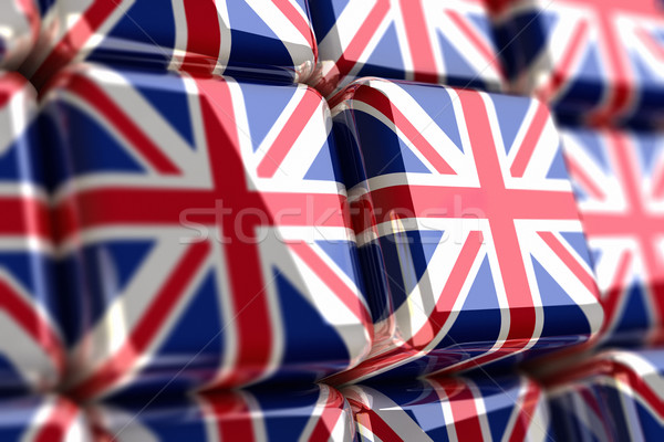 Union Jack Cube Stock Photo © HerrBullermann