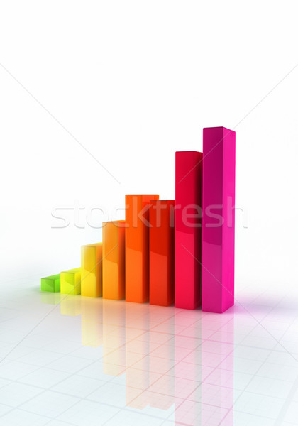 Shiny Bar Graph  Stock photo © HerrBullermann