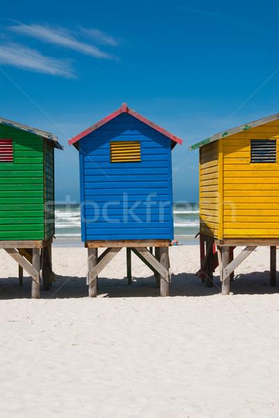 Gekleurd strand Cape Town Stockfoto © HerrBullermann