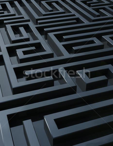 Sötét labirintus full frame renderelt kép siker elveszett Stock fotó © HerrBullermann