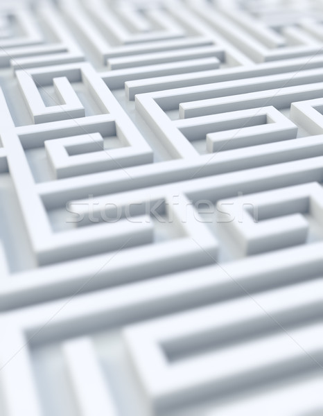White maze - selective focus Stock photo © HerrBullermann