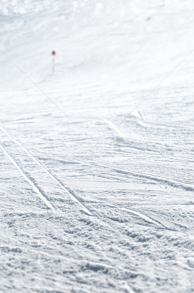 Esquiar seguir selecionado foco neve Foto stock © HerrBullermann