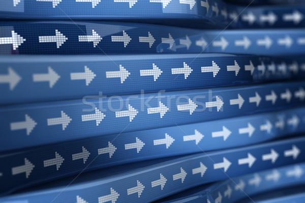 Kék nyíl nyilak irányítás jövő számítógép Stock fotó © HerrBullermann
