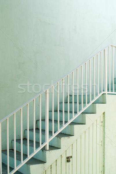 Mięty klatka schodowa sposób górę zielone wznoszenia Zdjęcia stock © HerrBullermann