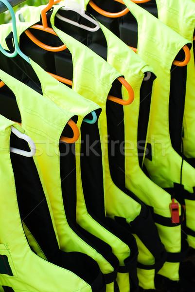 Life Jackets in a row Stock photo © HerrBullermann