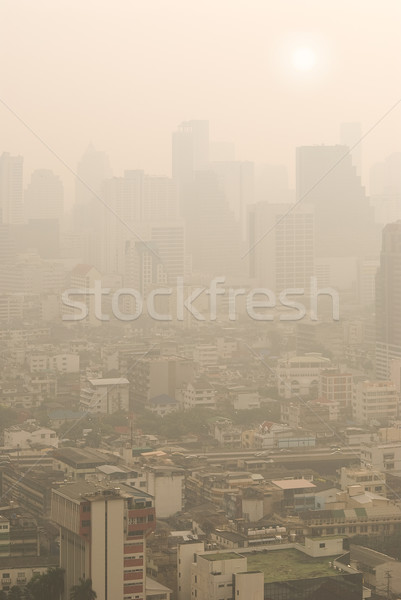 Bangkok in smog Stock photo © HerrBullermann