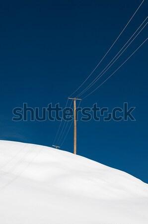 Erő pólus egyedüli kék ég természet hó Stock fotó © HerrBullermann