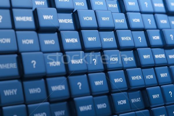 Vraag digitale gegenereerde groep verschillend Stockfoto © HerrBullermann