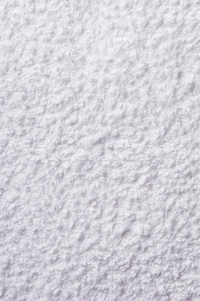 Fehér törölköző közelkép háttér tapéta tiszta Stock fotó © HerrBullermann