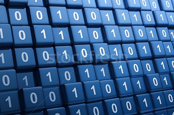 Foto stock: Binario · cubos · grande · grupo · ordenador · resumen