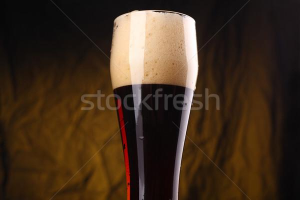Vetro buio birra alto giallo Foto d'archivio © hiddenhallow