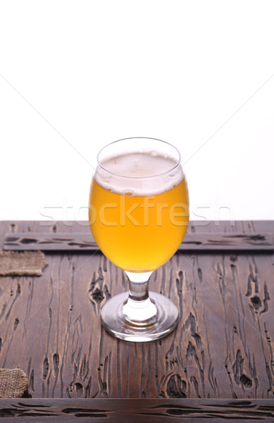 Glass of craft beer Stock photo © hiddenhallow