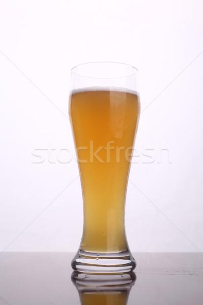 Glas bier tarwe witte Stockfoto © hiddenhallow