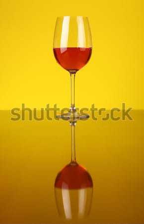 Glas bier twee bril heldere Geel Stockfoto © hiddenhallow