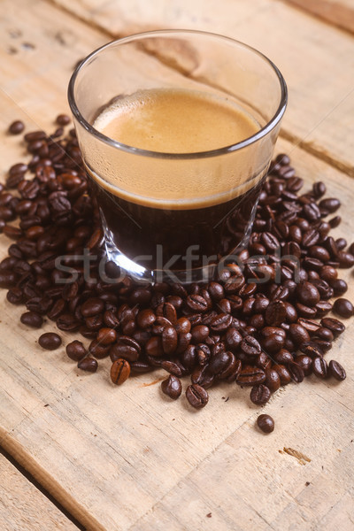 Coffee beans and fresh coffee Stock photo © hiddenhallow