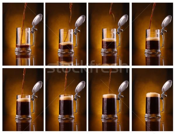 Buio birra shot mosaico vetro Foto d'archivio © hiddenhallow