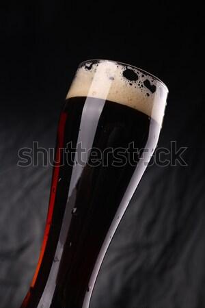 Vidrio oscuro cerveza alto gris Foto stock © hiddenhallow