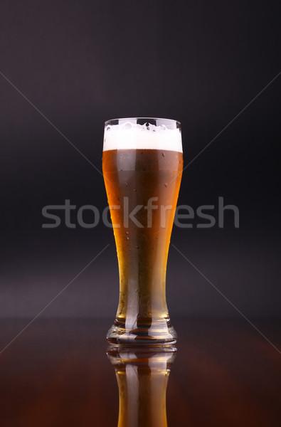 Vidrio cerveza oscuro beber Foto stock © hiddenhallow