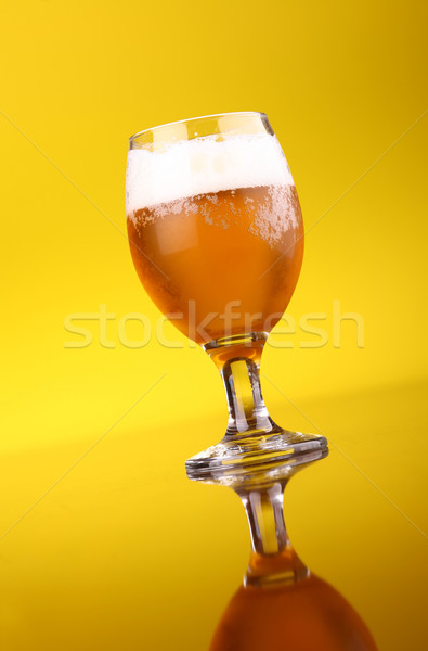 Glass of beer Stock photo © hiddenhallow