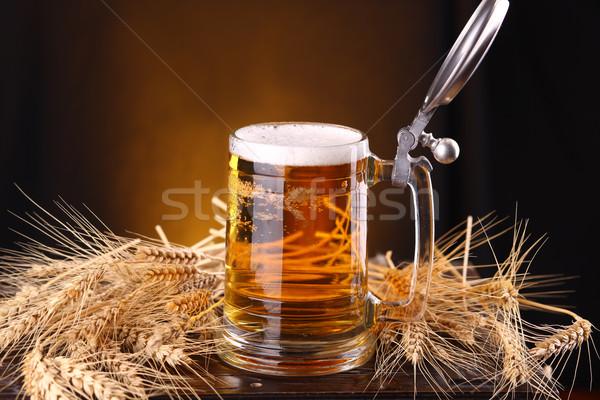 Taza cerveza pecho cebada Foto stock © hiddenhallow
