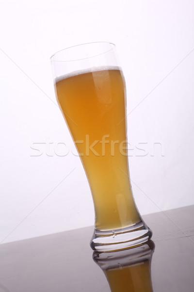 Vidrio cerveza trigo blanco Foto stock © hiddenhallow
