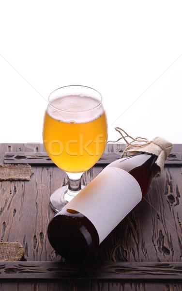 Bottle of craft beer Stock photo © hiddenhallow
