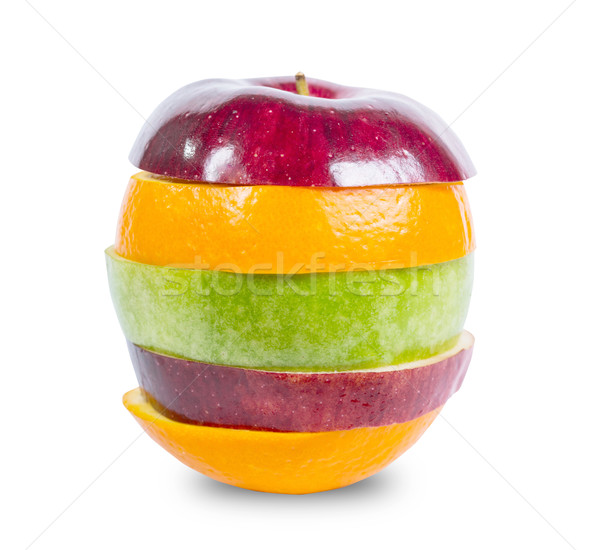 Close up mixed fruit include clipping path Stock photo © hin255