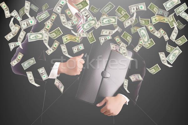 Empresário dinheiro investimento negócio mão homem Foto stock © hin255