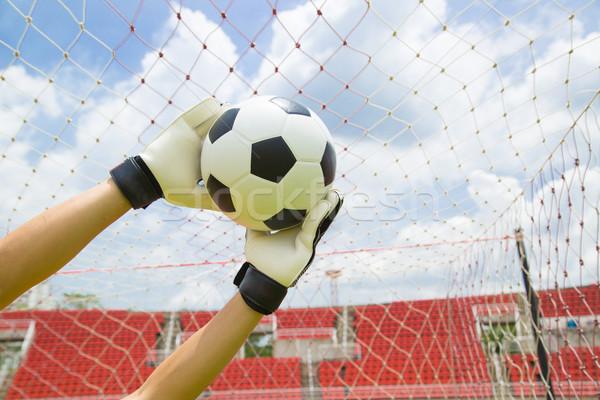 Torhüter benutzt Hände Ball Spiel Spiel Stock foto © hin255