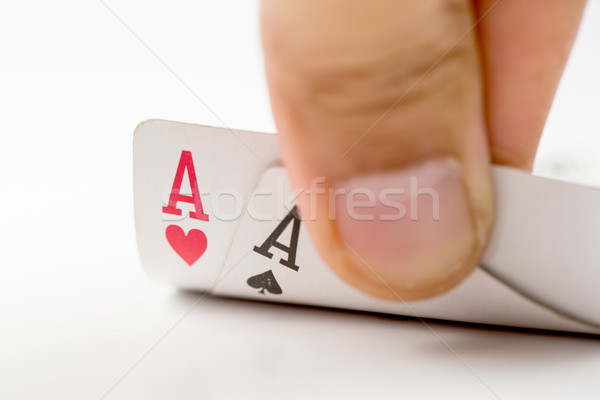 Player opened  aces pocker cards Stock photo © hin255