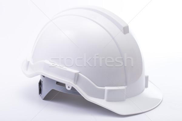白 安全 帽子 孤立した 作業 背景 ストックフォト © hin255