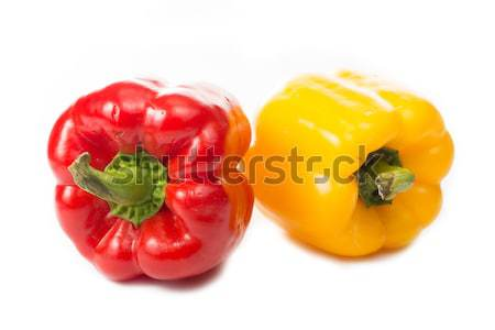 Red and Yellow paprika isolated  Stock photo © hin255