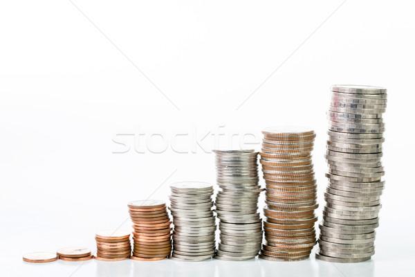 スタック コイン アップ 孤立した 白 ビジネス ストックフォト © hin255