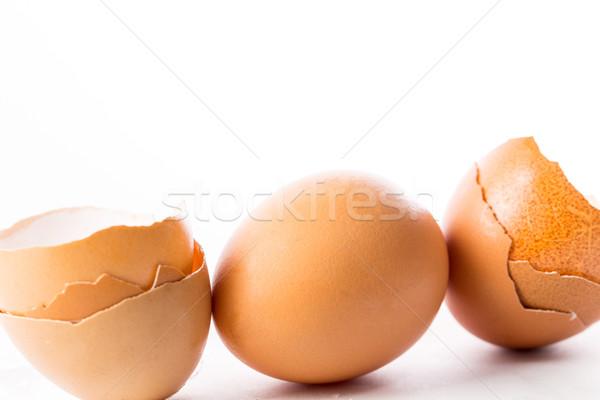 Törött tojás izolált étel farm élet Stock fotó © hin255