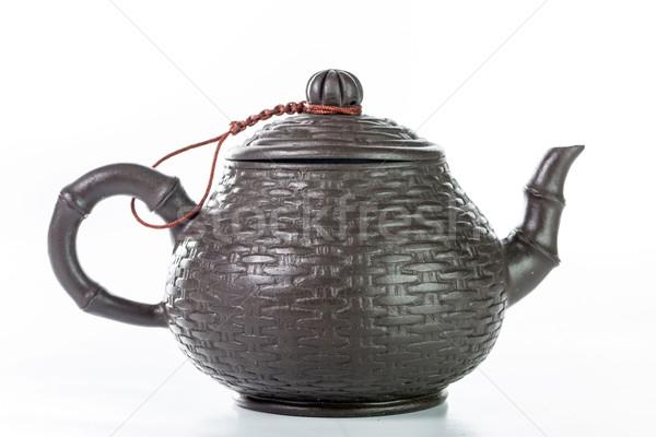 Chinois théière isolé blanche eau santé Photo stock © hin255
