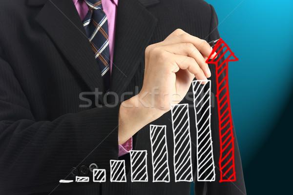 書く 成長 グラフ 投資 将来 ビジネス ストックフォト © hin255