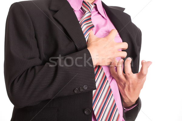 Heart Attack ,Use hand grabbing a chest  Stock photo © hin255
