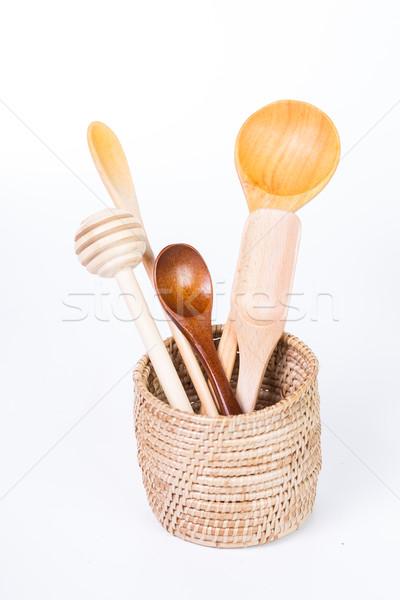 Wood spoon set Stock photo © hin255