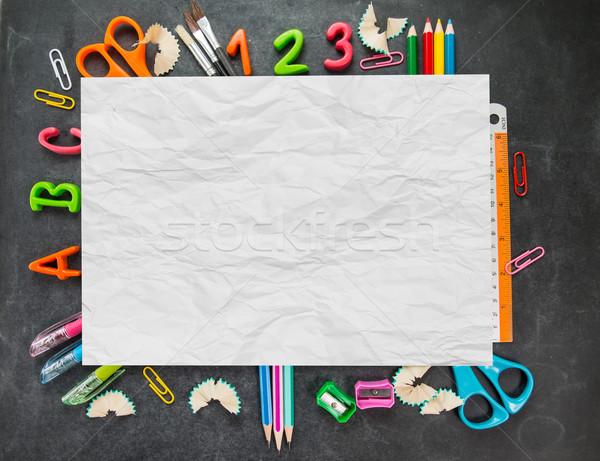 ボード 学校 鉛筆 背景 ノートブック ストックフォト © hin255